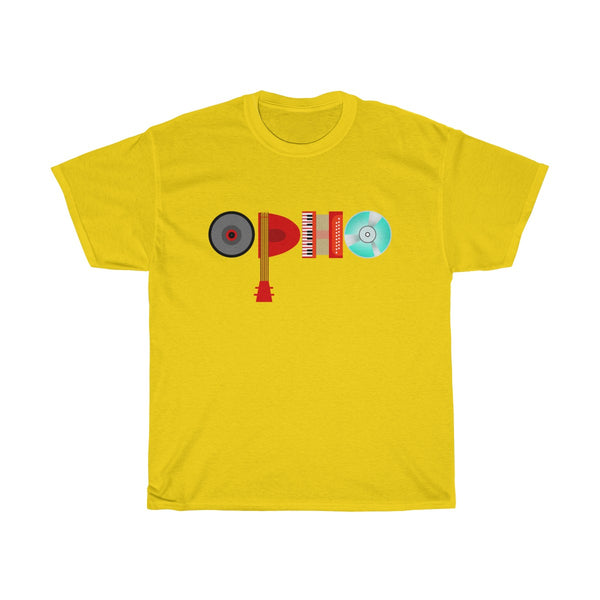 opho Musical Instruments Unisex Classic Fit T-Shirt Yellow