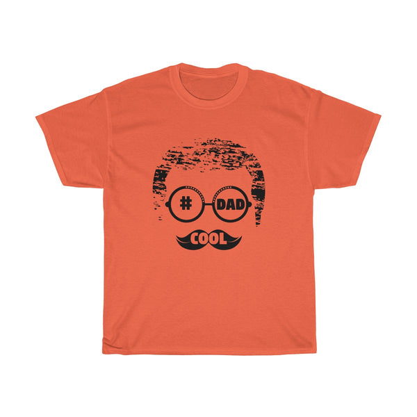 Cool Dad With Faded Hair Mens Classic Fit T-Shirt (Light Colored) Orange