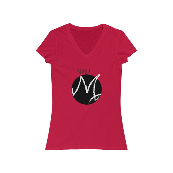 Virgo Zodiac Womens Slim Fit V-Neck T-Shirt