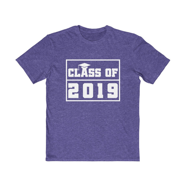 Class of 2019 Graduation Hat  Men's Semi Slim Fit T-Shirt Purple