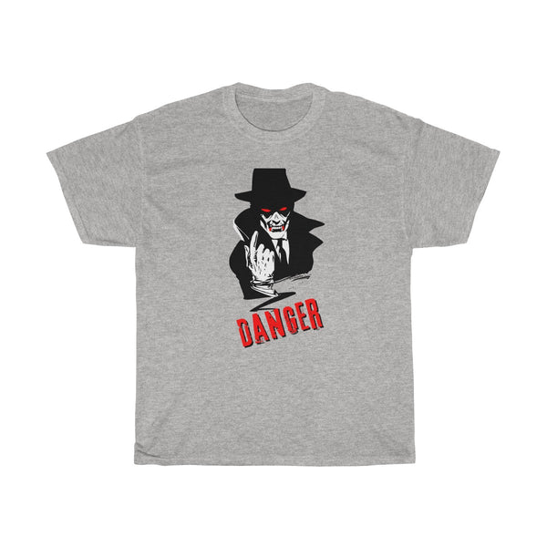 Halloween Vampire Danger T-Shirt Gray