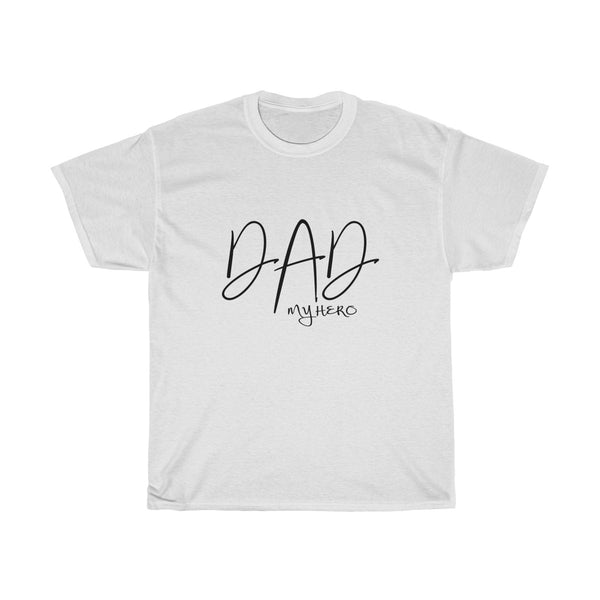 Dad My Hero Without Moustache Mens Classic Fit T-Shirt (Light Colored) White