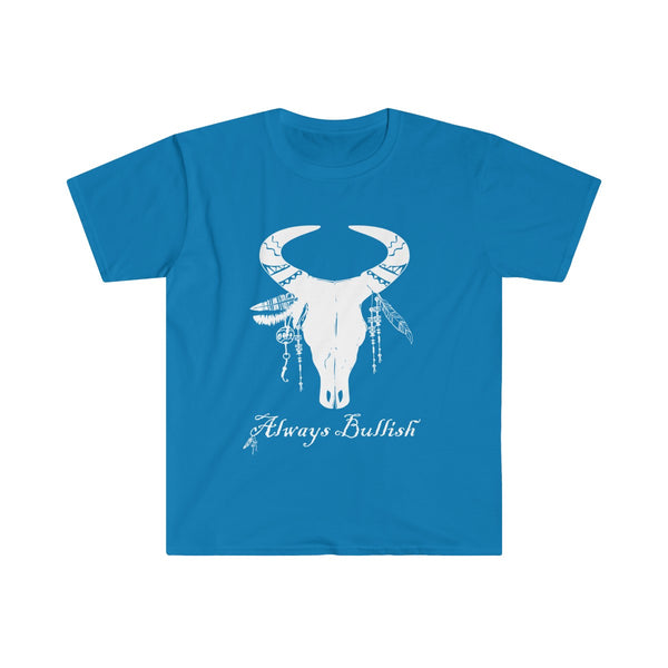 Always Bullish Men's Eurofit Short Sleeve T-Shirt Blue