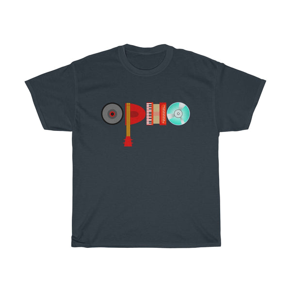 opho Musical Instruments Unisex Classic Fit T-Shirt Navy