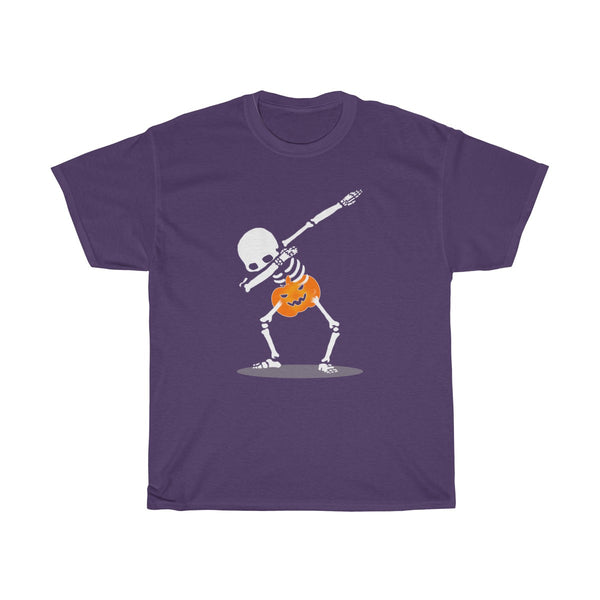 Halloween Dabbing With Pumpkin T-Shirt Purple