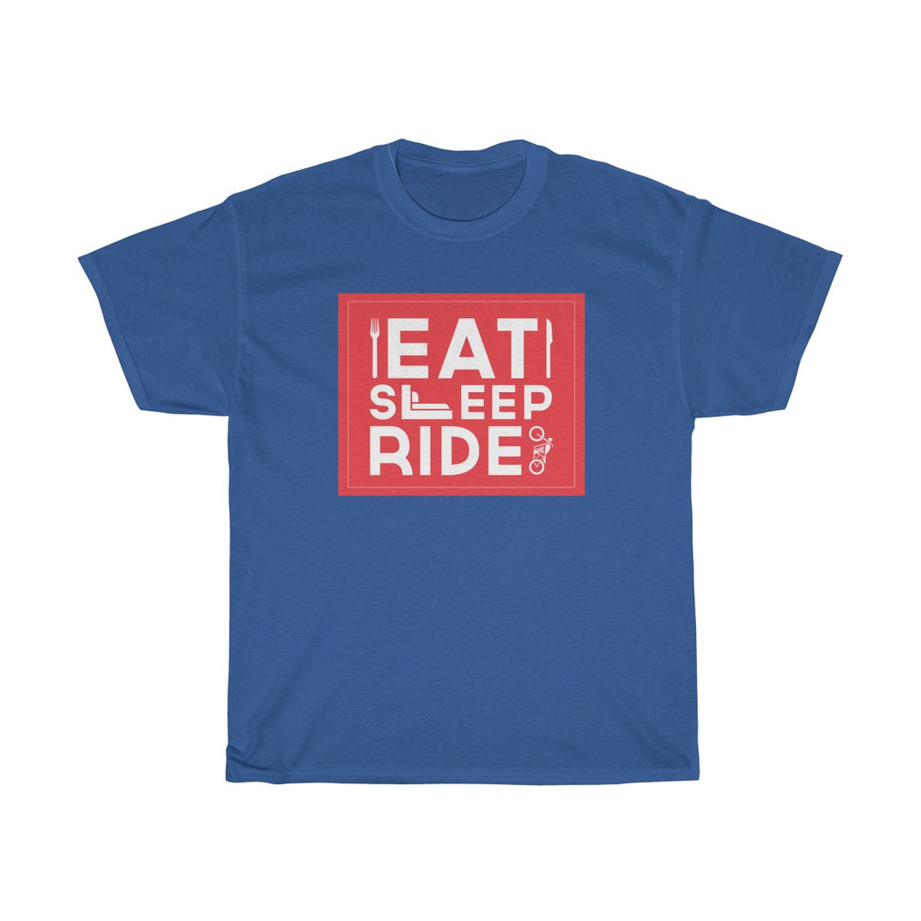 Eat Sleep Ride Unisex Classic Fit T-Shirt Blue