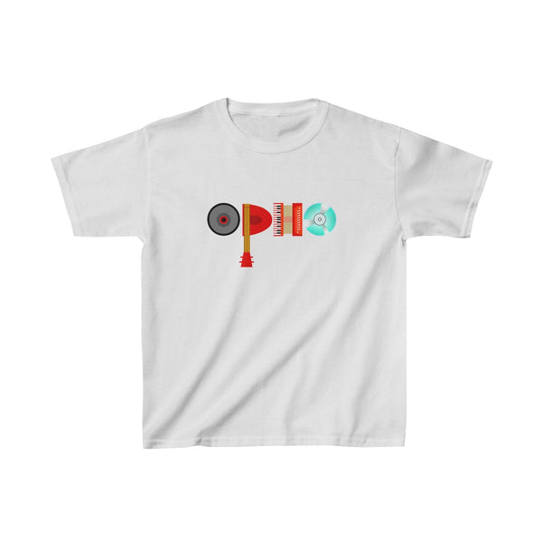 opho Musical Instruments Kids Classic Fit T-Shirt White
