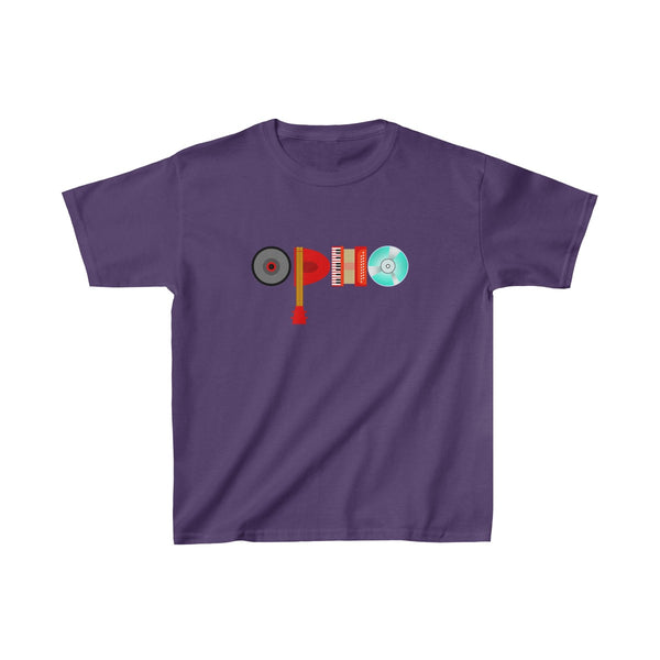 opho Musical Instruments Kids Classic Fit T-Shirt Purple