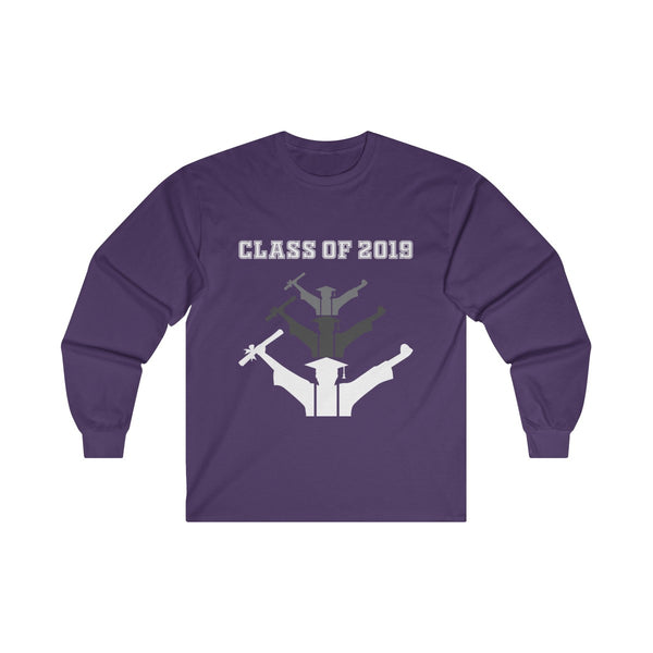 Class of 2019 Exhilarated Grads  Men's Classic Fit Long Sleeves T-Shirt Purple