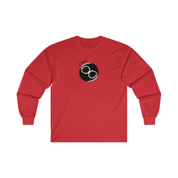 Cancer Zodiac Mens Classic Fit Long Sleeves T-Shirt Red