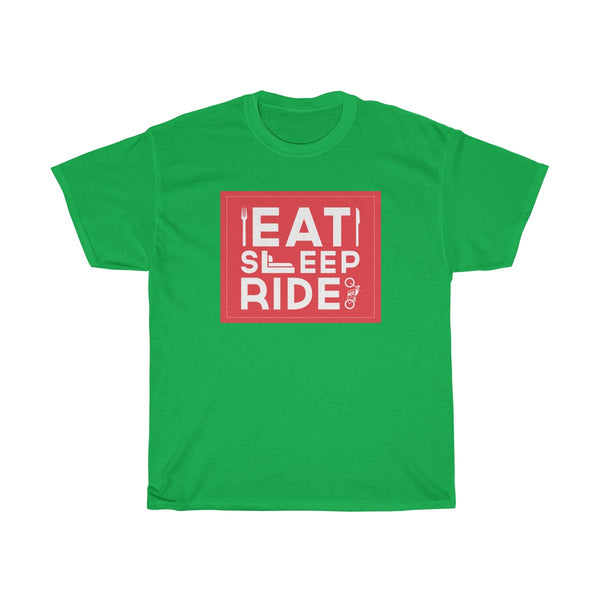 Eat Sleep Ride Unisex Classic Fit T-Shirt Green