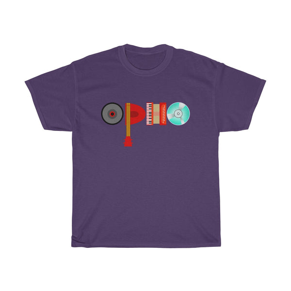 opho Musical Instruments Unisex Classic Fit T-Shirt Purple