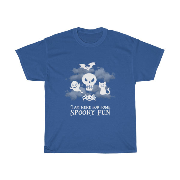 Halloween Here For Spooky Fun T-Shirt Blue