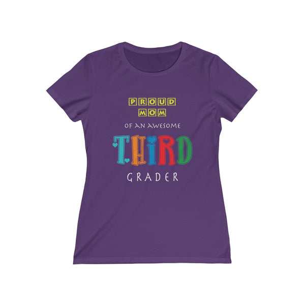 Proud Mom of Awesome Third Grader Women Feminine Fit T-Shirt