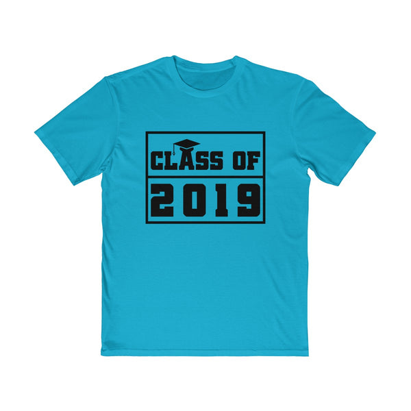 Class of 2019 Graduation Hat  Men's Semi Slim Fit T-Shirt Blue