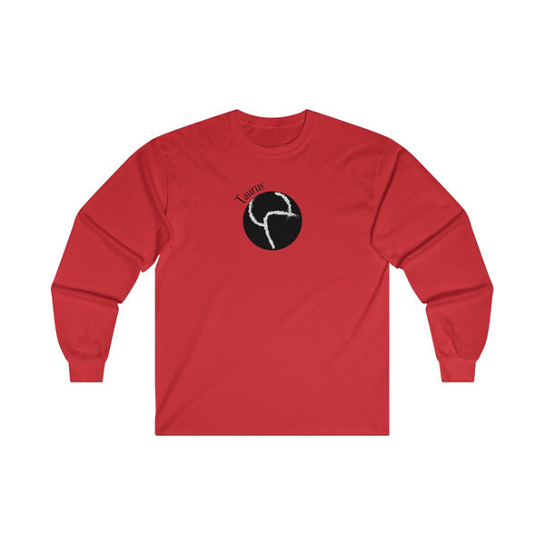 Taurus Zodiac Mens Classic Fit Long Sleeves T-Shirt Red