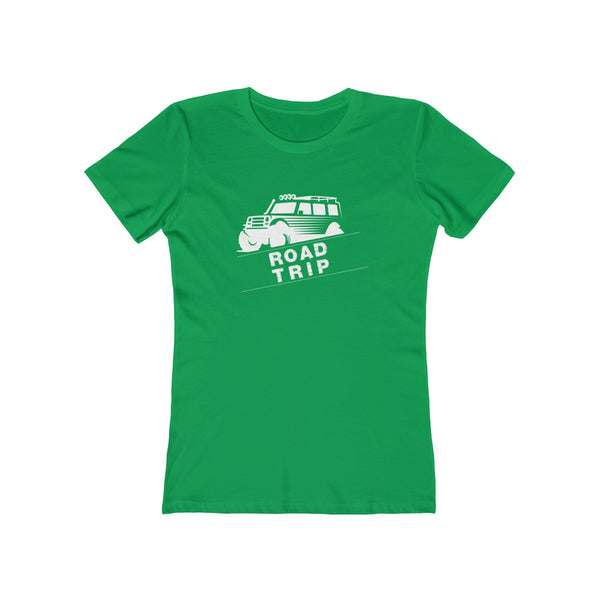 Road Trip Womens Slim Fit Longer Sleeve T-Shirt (Dark Colored) Green