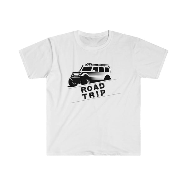 Road Trip Mens Eurofit Short Sleeve T-Shirt White