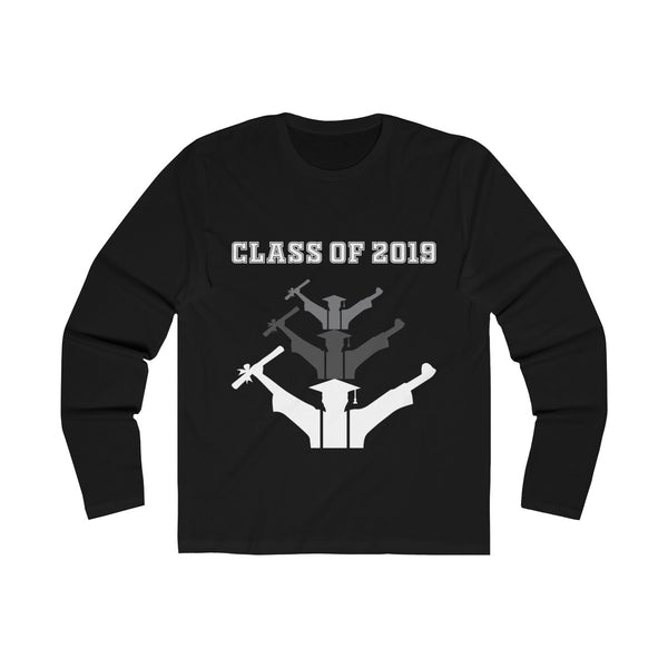 Class of 2019 Exhilitearated Grads  Men's Slim Fit Long Sleeves T-Shirt Black