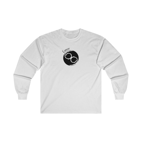 Cancer Zodiac Mens Classic Fit Long Sleeves T-Shirt White