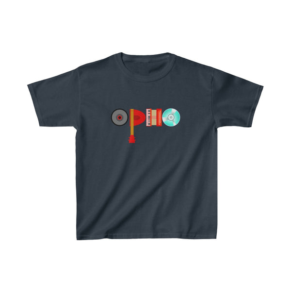 opho Musical Instruments Kids Classic Fit T-Shirt Navy