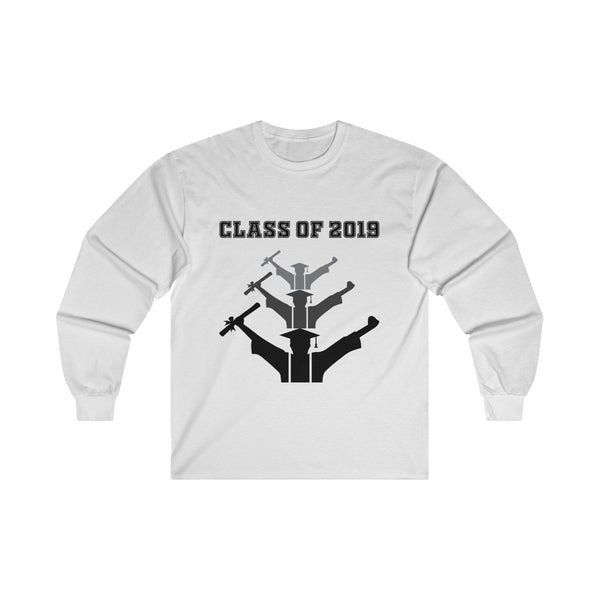 Class of 2019 Exhilarated Grads  Men's Classic Fit Long Sleeves T-Shirt White