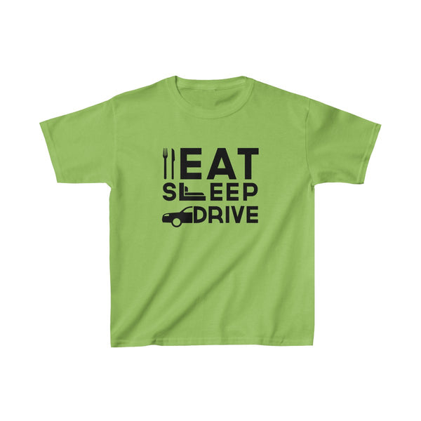 Eat Sleep Drive Kids Classic Fit T-Shirt Green