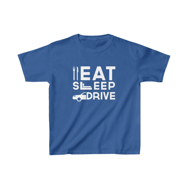Eat Sleep Drive Kids Classic Fit T-Shirt Blue