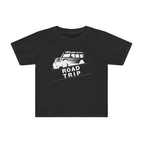 Road Trip Toddler Fitted T-Shirt Black