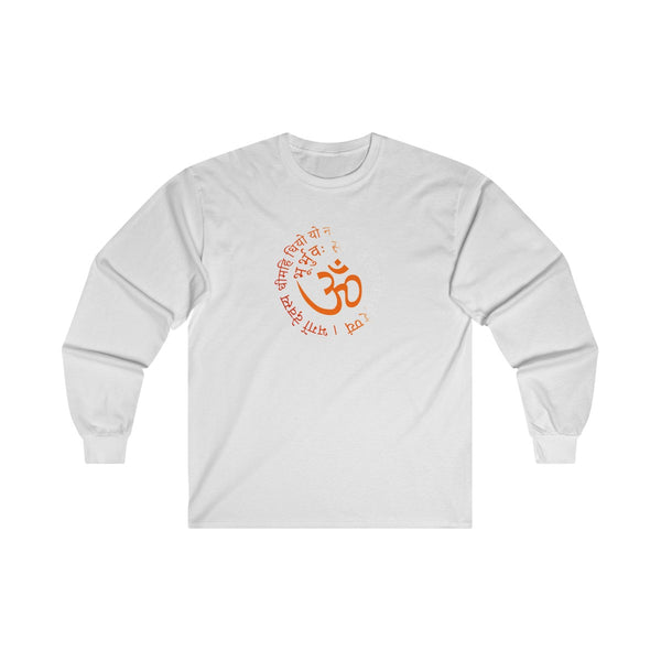 Om Gayatri Mantra Swirl Mens Classic Fit Long Sleeves T-Shirt