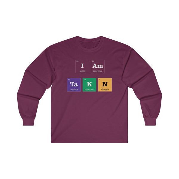 Periodic Table I am Taken Colored Mens Classic Fit Long Sleeves T-Shirt