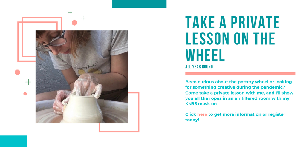 In Person Private Lessons on Pottery Wheel In Seattle