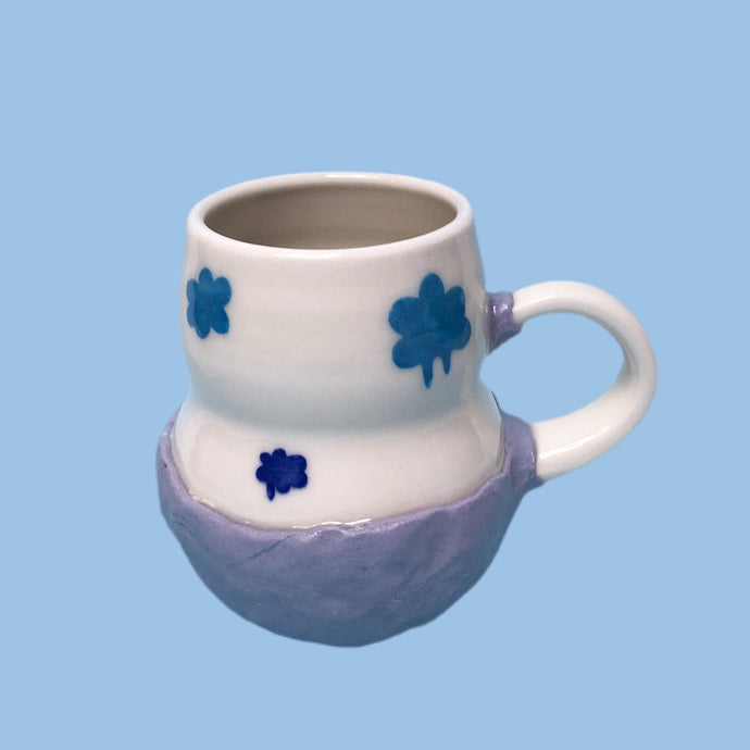 head in the clouds mug purple