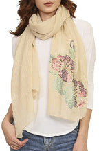 Load image into Gallery viewer, Ladies fashion sequined flower pattern scarf - comfy-cozy18