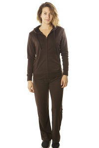 Ladies fashion french terry hoodie jacket and pant set - comfy-cozy18