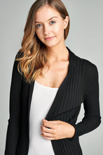 Load image into Gallery viewer, Ladies fashion long sleeve open front ribbed knit cardigan - comfy-cozy18