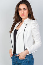 Load image into Gallery viewer, Ladies fashion side zipper closure gathered shoulders jacket - comfy-cozy18
