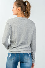 Load image into Gallery viewer, Ladies fashion crew neckline grey bye hater graphic sweatshirt - comfy-cozy18