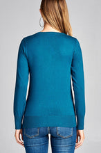 Load image into Gallery viewer, Ladies fashion long sleeve v-neck classic sweater - comfy-cozy18