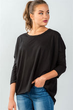 Load image into Gallery viewer, Ladies fashion black button up back long sleeve sweater - comfy-cozy18