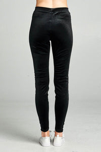 Ladies fashion velvet leggings - comfy-cozy18