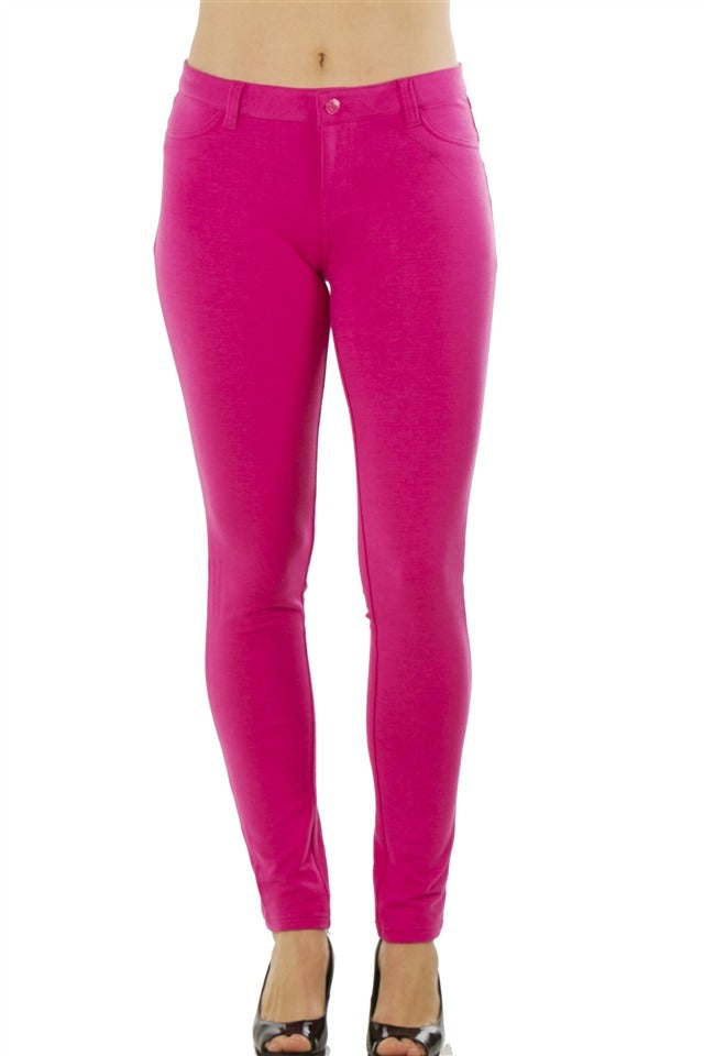 Ladies fashion stretch cotton blend leggings - comfy-cozy18
