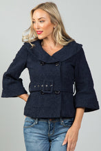 Load image into Gallery viewer, Ladies fashion textured double breasted jacket - comfy-cozy18