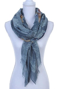 Floral pattern oblong scarf - comfy-cozy18