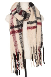 Soft plaid pattern oblong scarf - comfy-cozy18