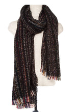 Load image into Gallery viewer, Multi color striped oblong scarf - comfy-cozy18