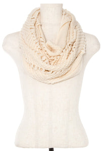Open knitted infinity scarf - comfy-cozy18