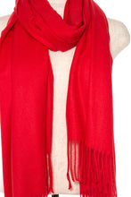 Load image into Gallery viewer, Oblong solid fringe trim scarf - comfy-cozy18