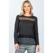 Load image into Gallery viewer, Boho lace-panel and hem top - comfy-cozy18