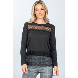 Boho lace-panel and hem top - comfy-cozy18